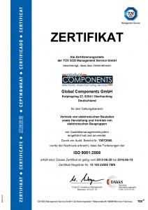 TUEV Zertifikat DE